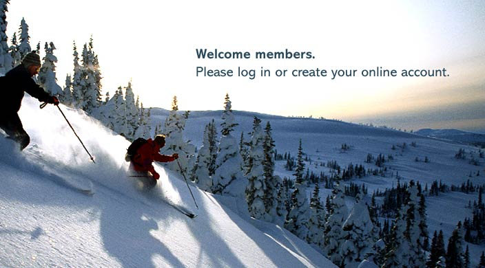 Welcome members. Please log in or create your online account.